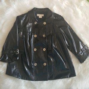 GUC Michael Kors MK Black Patent Jacket Medium